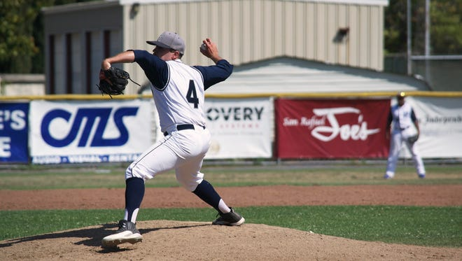 LaGrange's VJ Collins pitched for the San Rafael Pacifics.