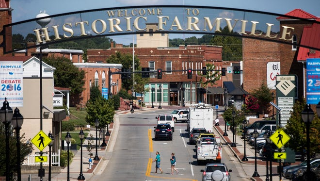 Farmville, Va., site of the great Kaine-Pence battle of 2016.