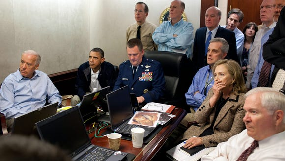 A White House handout photo from May 1, 2011 shows