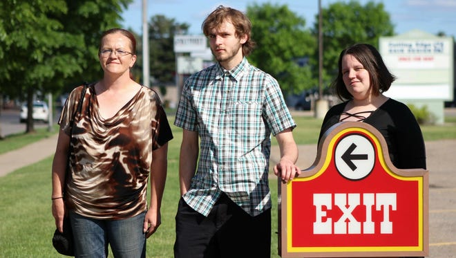 Kimberly Manteuffel, Nathan Brown and Isis Hunter are three of the employees that walked out of their job at Wendy's in Weston Thursday, after management refused to fix issues with the building or raise wages.