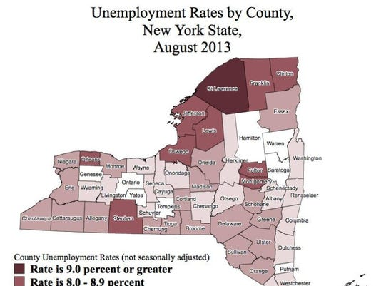 New York Unemployment Rates by County