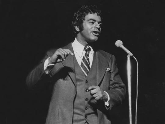 Johnny Mathis performs on Aug. 25, 1969, in New Jersey.