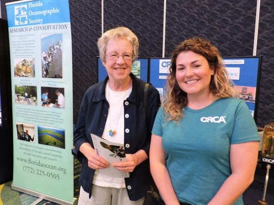 Along with other conservation groups, Nancy Balow and Retta Rohm of ORCA distributed information about the organization