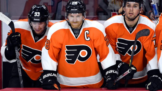 Claude Giroux and the Flyers have lost seven of their last eight games.