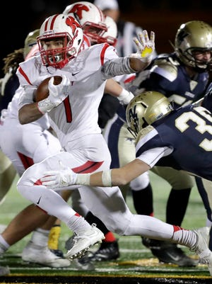 Kimberly running back DJ Stewart has been named the Gatorade state football of the year after rushing for 2,299 yards and 29 total touchdowns this season. Wm.Glasheen/USA TODAY NETWORK-Wisconsin