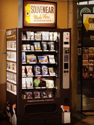 The SouveNEAR vending machine at Kansas City International Airport.