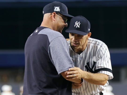 Indians Manager, Terry Francona and Yankees Manager,