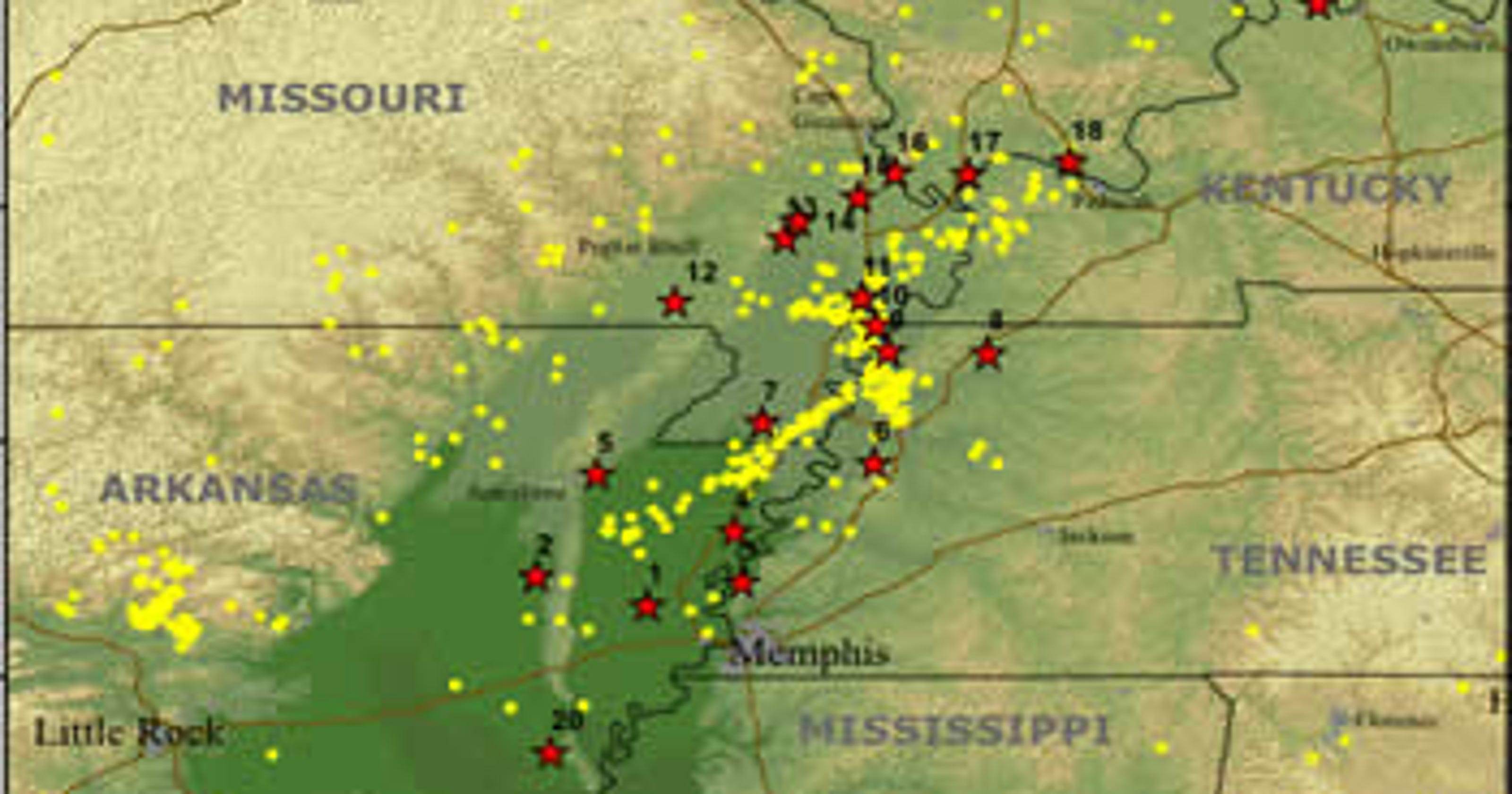 Catastrophic earthquake in Tennessee more likely than you