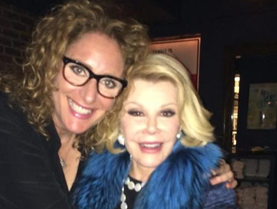 Judy Gold with the late comedian Joan Rivers.