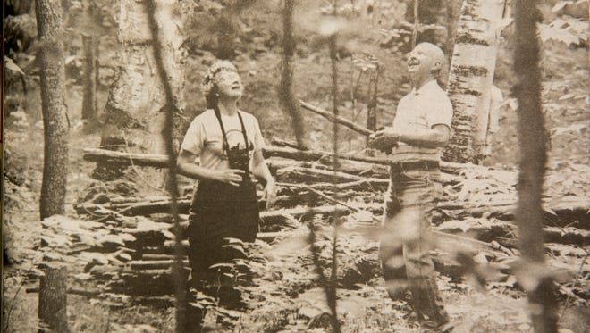 Charlotte and Roy Lukes on their Egg Harbor land in 1997.