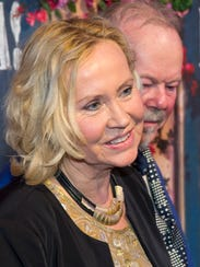 Agnetha Faltskog of ABBA at the restaurant opening