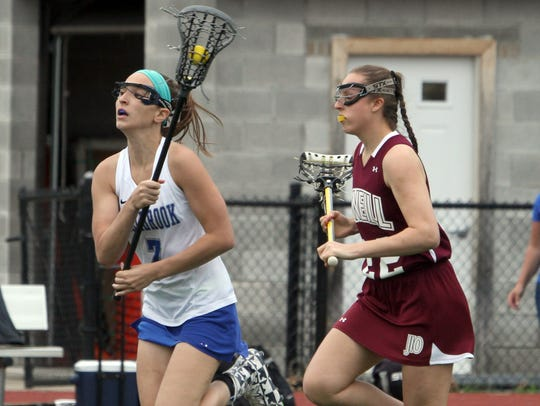 Millbrook's Kaitlyn Daly controls the ball during the