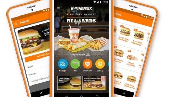 Whataburger launched a mobile app Nov. 1. It's available for download on iTunes and Google Play