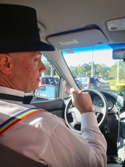 James Carvin, a Tallahassee Uber driver, is making