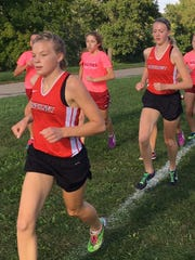 Noelle Adriaens (front) and Erika Rapp (in second)