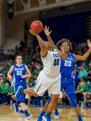 Coaches aside, FGCU senior guard China Dow is the only Eagle with experience vs. South Dakota State. She spent her first two seasons at Middle Tennessee, which played the Jackrabbits. FGCU hosts South Dakota State in a mid-major showdown on Friday night.