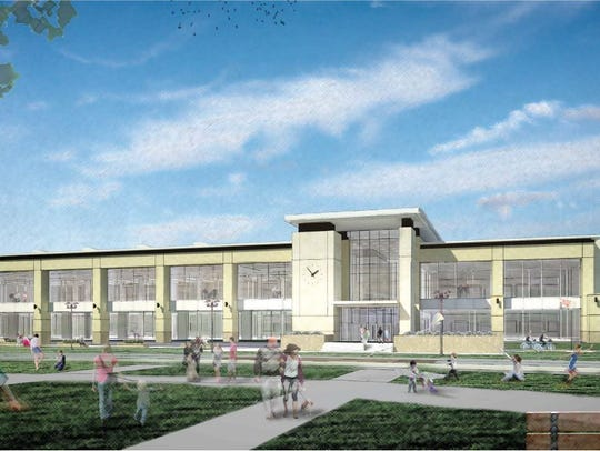 A rendering of the possible new Ankeny Library in the
