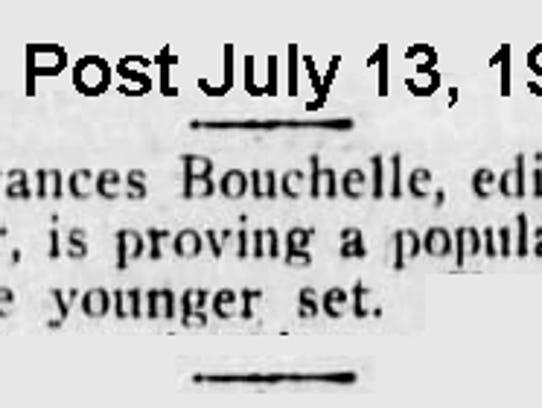 Stuart Messenger Editor Frances Bouchelle was written