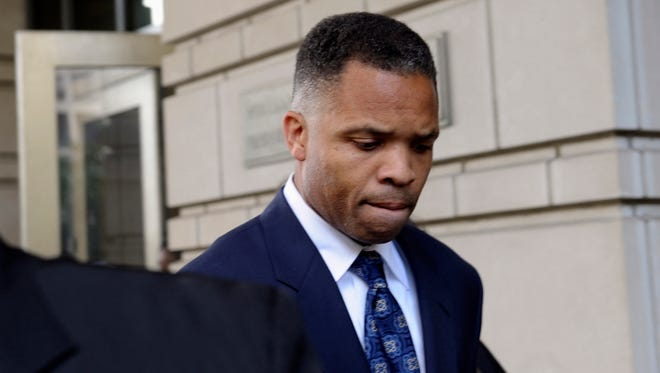 Former Illinois Rep. Jesse Jackson Jr., leaves federal court in Washington in 2013.