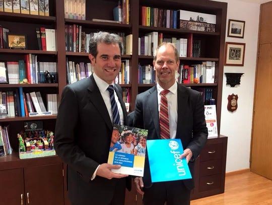 UNICEF también entregó al INE la Agenda de Infancia