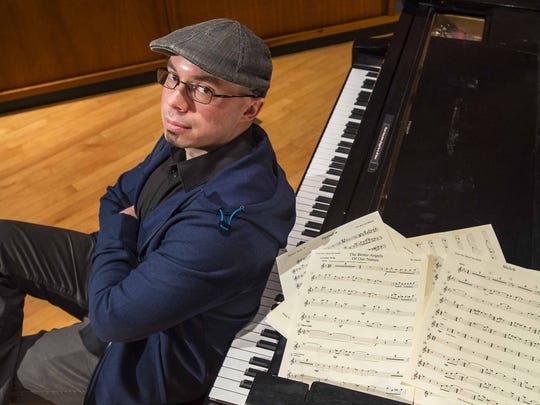 """Jazz saxophone player Brian McCarthy, pictured at St. Michael's College in Colchester, composed """"The Better Angels of Our Nature."""" The piece is part of a program of Civil War music that McCarthy and his ensemble will perform at a concert at the FlynnSpace in Burlington on Friday and Saturday."""