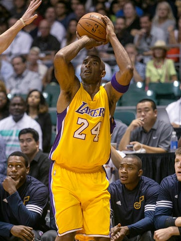 Kobe Bryant saw his first game action since January