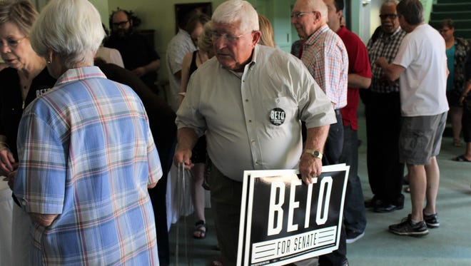 Dowell Matthews drove from Anson to Abilene to hear Democratic U.S. Senate candidate Beto O'Rourke speak Saturday at the Abilene Woman's Club. He went home with a couple of yard signs.