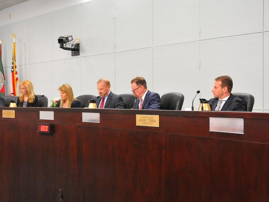 The sitting County Commission.