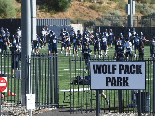 Wolf Pack Park is shown during Nevada's 2018 fall camp.