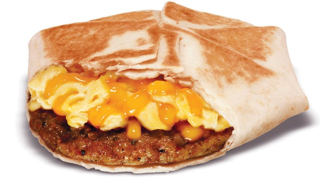 Taco Bell sells a Johnsonville sausage and egg wrap on its new breakfast menu.