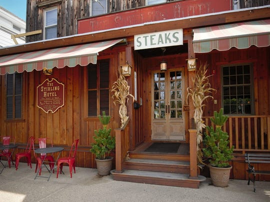 The Stirling Hotel is reminiscent of a Western hangout.