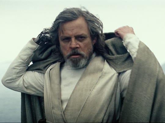 Luke Skywalker (Mark Hamill) revealed himself at the