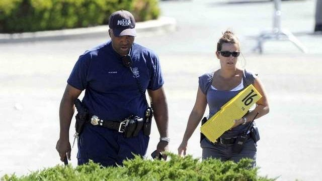 A scene from the shootings in Carson City on Tuesday, Sept. 6, 2011.