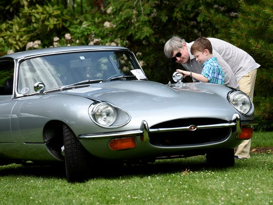 Decades Of Jaguar Models Bring Car Enthusiasts To Cats In The Garden