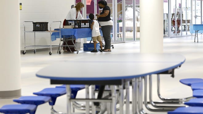 Back to school registration takes place for kindergarten through fifth-grade students on Wednesday at Constance Lane Elementary School in Rockford.