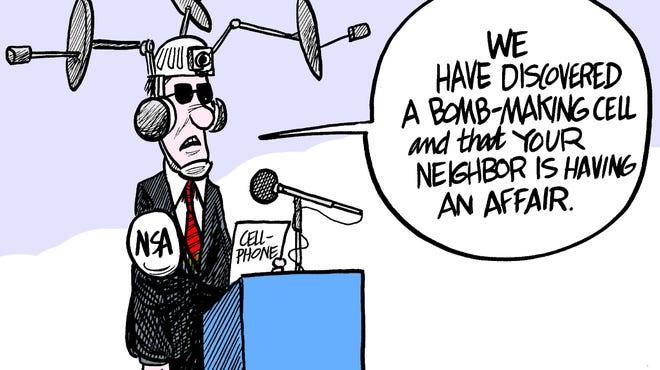 NSA cellphone surveillance.