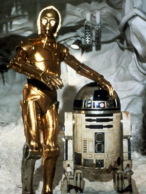 "C3PO and R2D2 in ""The Empire Strikes Back."""