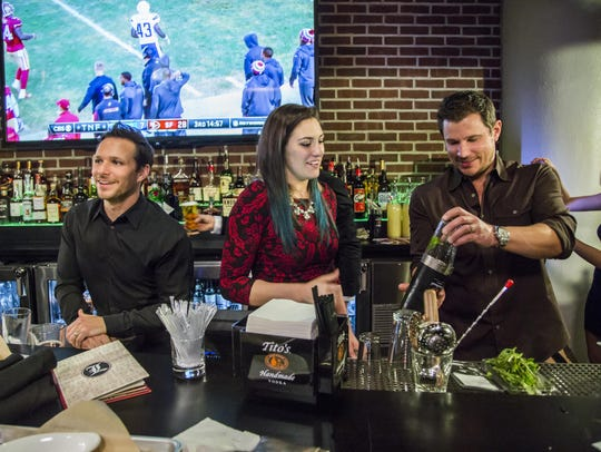 """Drew, left, and Nick Lachey in """"Lachey's: Raising the"""