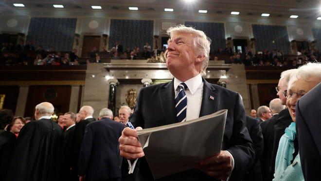 President Trump on Capitol Hill in Washington.
