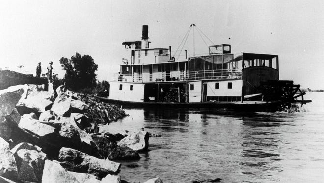 Steamboats like this one once moved supplies up and down the Colorado River near Yuma.