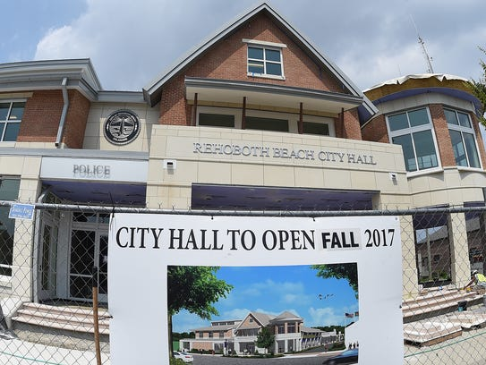 Rehoboth's new City Hall nears completion in downtown