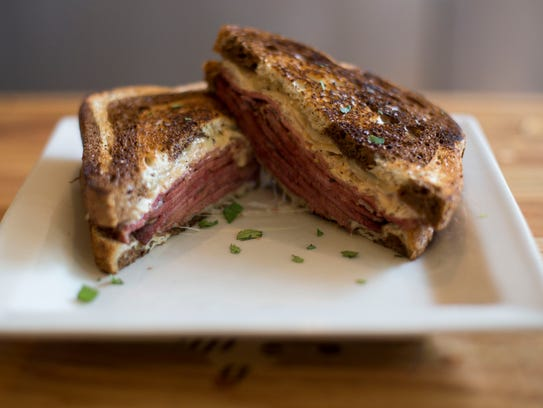 A Reuben sandwich at Choice City Butcher & Deli.