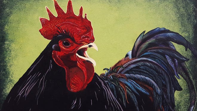 "Robin Callahan, creator of ""Black Rooster,"" will be among artists featured at Open Studio Weekend in Brandon."