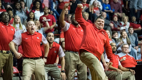 Bosse Head Coach Shane Burkhart (center) and the rest