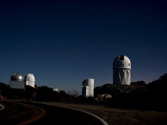 Night view of Kitt Peak National Observatory.