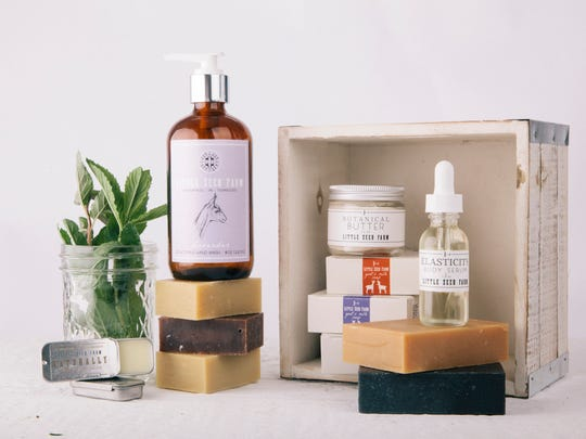 Little Seed Farm makes goat's milk soap and other skin products in Lebanon.