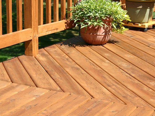 If you have rough backyard terrain, a raised deck may
