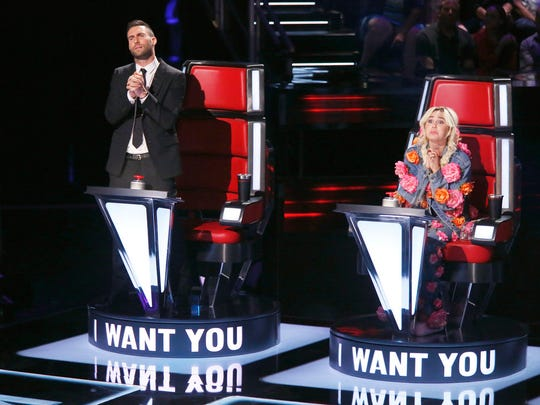"Adam Levine begs Bindi Leibwitz of Plainfield during her Blind Audition on ""The Voice"" to choose him to be her coach."