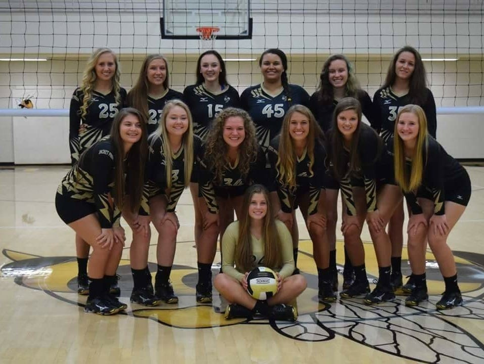 The Hayesville volleyball team.