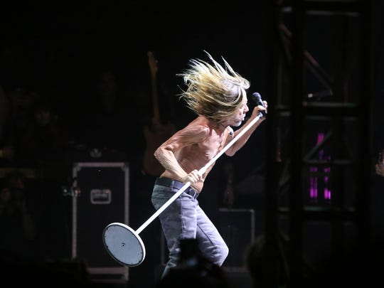 Iggy Pop performs during the sixth annual Desert Daze at the Institute of Mentalphysics in Joshua Tree on Saturday, October 14, 2017